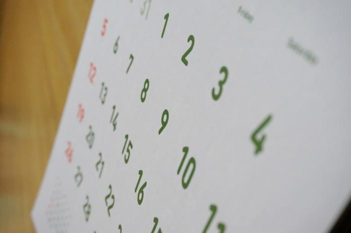 教室カレンダーのイメージ
